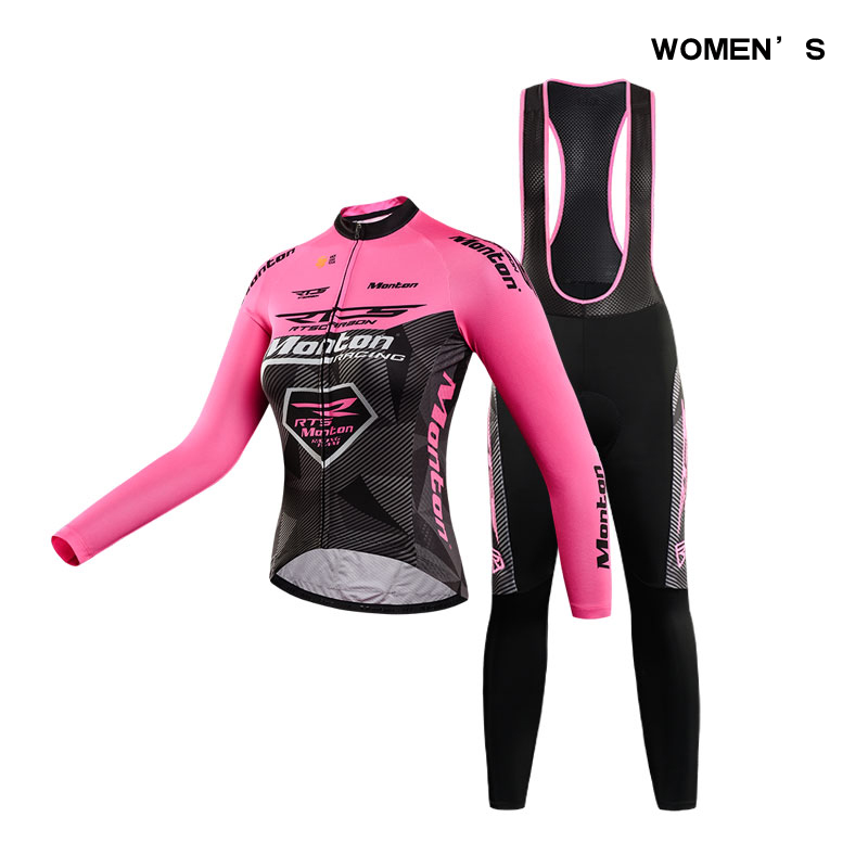 Spring Long Sleeve Woman Pro RTS Team UV Protect Cycling Jerseys Suit Mountain Bike Quick Dry Breathable Riding Jersey Clothing