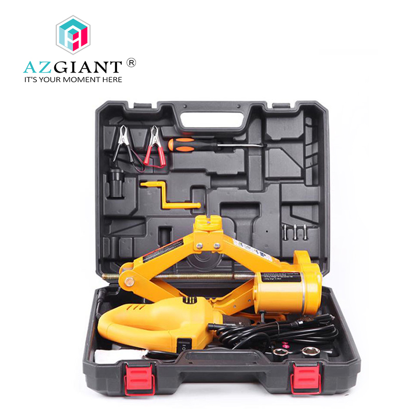 AZGIANT Jack car equipment 12v electric wrench tool Electric hydraulic jack vehicle maintenance tools hollow hydraulic jack rch 2050 multi purpose hydraulic lifting and maintenance tools 20t hydraulic jack 1pc