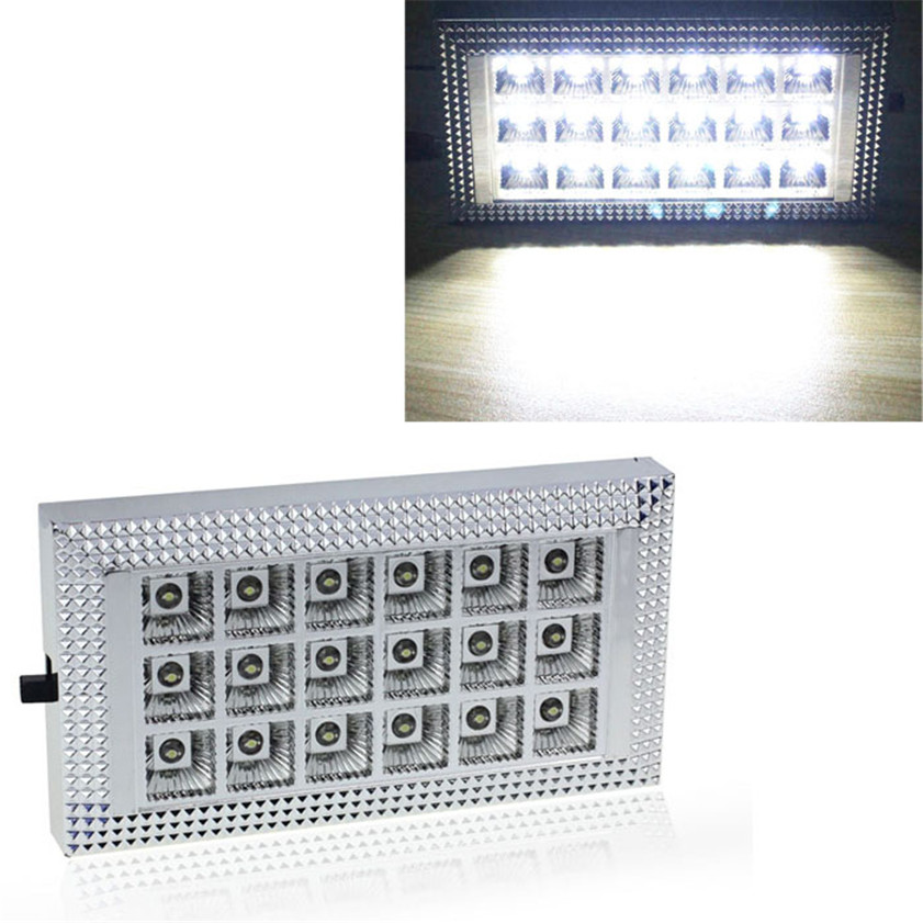 High Quality  18 LED 12V Car Van Bus Interior Ceiling Dome Roof Light Lamp Bright White autoleader 24 led roof ceiling interior reading dome light for camper car rv boat trailer 12v porch light rectangle clear amber