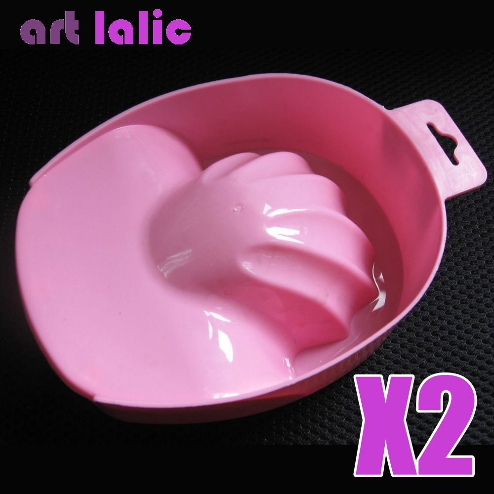 2 Pcs Nail Art Soak Bowl Hand Remove Manicure Treatment Polish Washing Bowl Tools