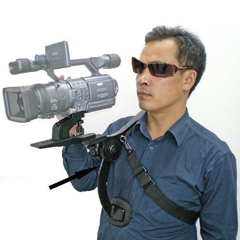 Free Ship Professional New Video Capture Stabilizer Bracket Shoulder Rig For Canon Nikon DV DSLR HD Digital Camera Camcorder