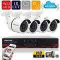 Sunchan New 4CH HD 720 P AHD-DVR 1.0 Mega 4 pcs 720 P AHD câmeras IR 36 Leds 1080 P CCTV câmera de vídeo sistema de vigilância Kits sistema de cameras