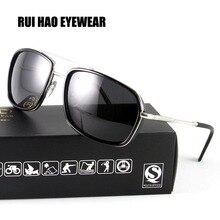RUI HAO EYEWEAR Fashion Polarized Sunglasses Men 2017 Driving Glasses Mens Aviator Goggles Polarized Sun Glasses oculos de sol