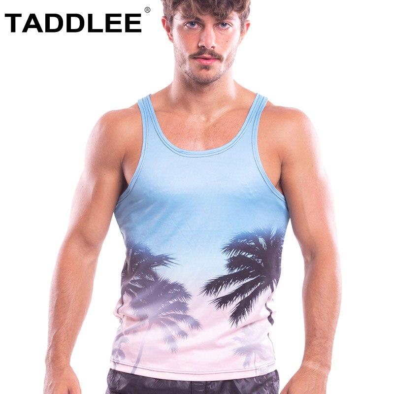 Taddlee Brand 2018 New Men's Tank Top Shirts Tees Vest Sleeveless Outdoor Gym Run Basketball Undershirts Stringer Singlets Sport