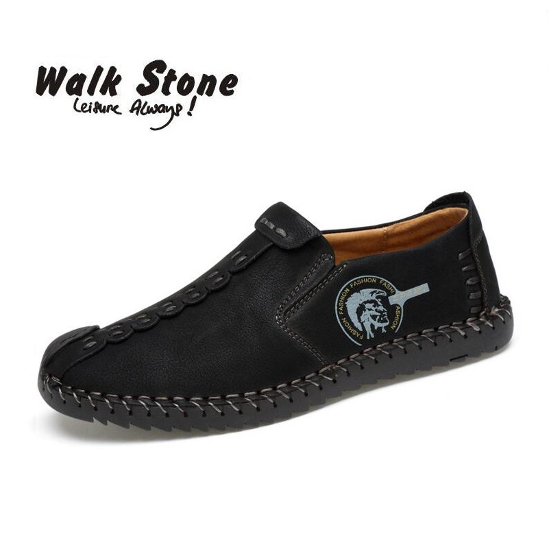 Large Size 38-46 Men Genuine Leather Casual Loafers Fashion Man Moccasins Chaussures Flats Male Breathable Driving Boat Shoes tn men leather boat shoes vintage lace up casual driving shoes man fashion flats chaussure homme large size 46 loafers zapatillas