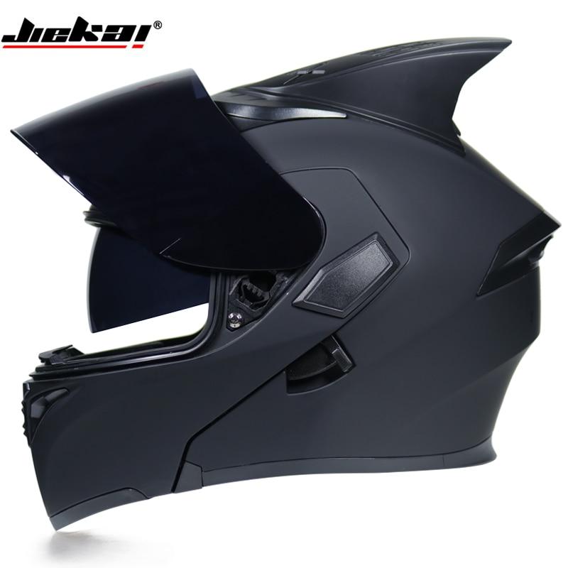 Motorcycle Helmet DOT Approved Flip Up helmet Dual Visor Racing Motos Helmet Full Face Helmet Fit
