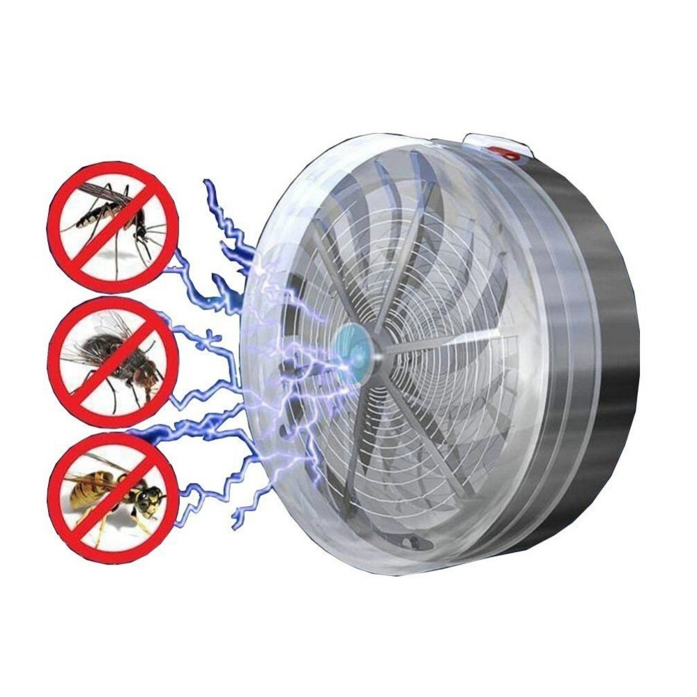 Indoor Outdoor Summer Solar Powered Mosquito Killer Light Lamp Electric Fly Insect Bug Mosquito Kill Zapper Killer Repeller|Mosquito Killer Lamps| |  - title=