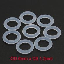 OD 6mm x CS 1.5mm VMQ PVMQ SILICONE Translucent O ring O-ring Oring Sealing Rubber od16mm x cs1mm vmq pvmq silicone irhd 55 translucent o ring o ring sealing rubber