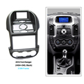 Negro Doble Din Car Radio Fascia para 2011 2012 2013 Ford Ranger de gama Alta DVD Marco de Montaje Kit de Coche CD Recortar