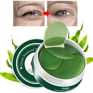 Image 4 - 60 Pcs/בקבוק עין מסכת מתחת לעיניים PatchesDark עיגולים מסיר לחות נגד קמטים קריסטל קולגן עיניים מסכות