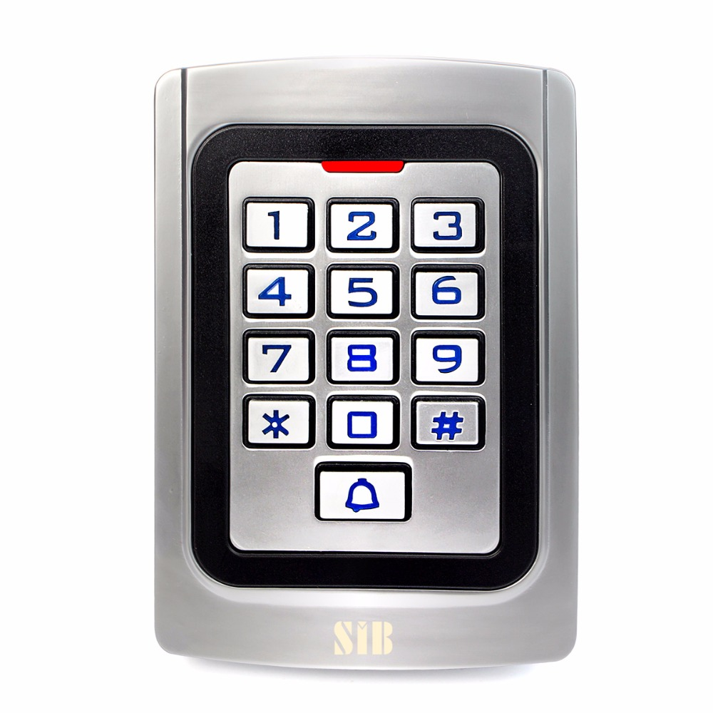 SIB IP68 Waterproof Access Control Metal case Silicon Keypad Security Entry Door Reader RFID 125Khz EM Card Standalone F1322D wg input rfid em card reader ip68 waterproof metal standalone door lock access control with keypad support 2000 card users