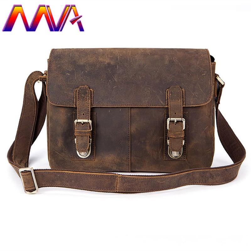 MVA Hot sale 100% genuine leather cross shoulder bag with top quality cow leather men messenger bag for fashion men bags пелевин в ананасная вода для прекрасной дамы page 9