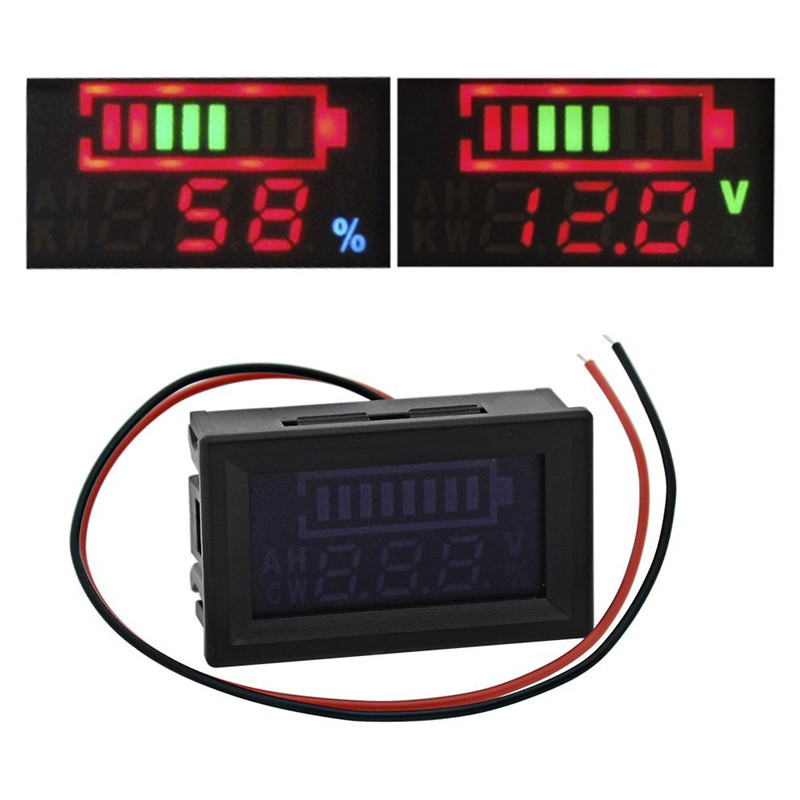1 PC New 12V Lead-acid Battery Indicator Intuitive Voltage Display LED Display Meter SA607 T0.11