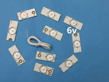 50Pieces/lot Led Strips 6v Bulbs Diodes 32-65 inch Tv Optical Lens Fliter Backlight w/ cable Double-side Tape(China)