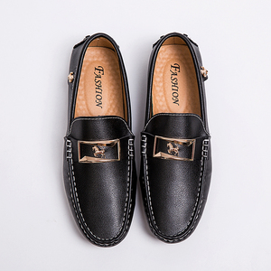 Image 5 - Men Loafers Leather Casual Shoes Men Moccasin Footwear Flat Peas Shoes Driving Boat Shoes Male Classical Summer Sapato Masculino