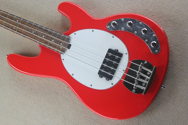 Free Shipping High Quality Ernie Ball Musicman Music Man Sting Ray 4 Strings Red Electric Bass Guitar Active pickups 1027Free Shipping High Quality Ernie Ball Musicman Music Man Sting Ray 4 Strings Red Electric Bass Guitar Active pickups 1027