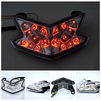 Motorcycle LED Turn Signal Tail Light Taillight For KAWASNKI ZX6R Z800 2013-2015 Z125 2016