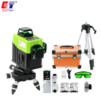 Kaitian Green Laser Level 360 Nivel Laser 12 Lines Rotary Line Lazer Level 3D Leveling Profissional Measuring construction Tools