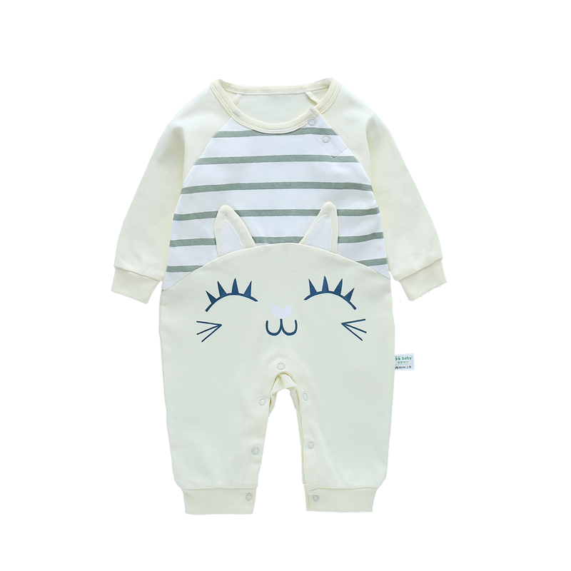 Infant New Born Baby Boy Rompers Baby Girl Rompers Clothes Overalls Newborn Baby Overall Clothing Jumpsuit Long Sleeve Jumpsuits 0 12m autumn fleece baby rompers cute pink baby girl boy clothing infant baby girl clothes jumpsuits footed coverall gl001740695