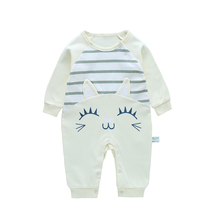 kiddiezoom Long Sheeve 7Pcs/lots Baby Boys Rompers Cotton