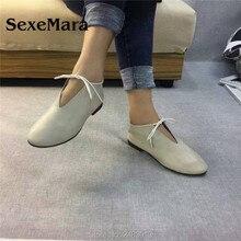 SexeMara New Original Handmade Women Genuine Leather Shoes L