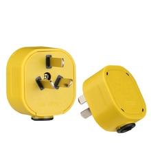 CHINA, Australian, New Zealand 3-Pin Power Plug Rewireable  AC 250V 10A Detachable Plug