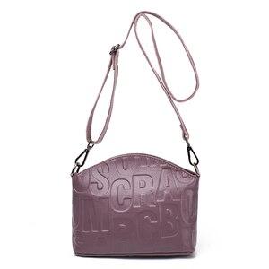Image 4 - Marca de moda sacos de couro genuíno bolsa elegante estilo luxo bolsas femininas bolsa feminina muitas cores