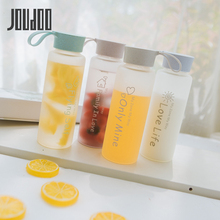 JOUDOO 450ML New Fashion High Quality Hot Sale Creative Scrub Plastic Water Bottle Fresh Simple Portable 35