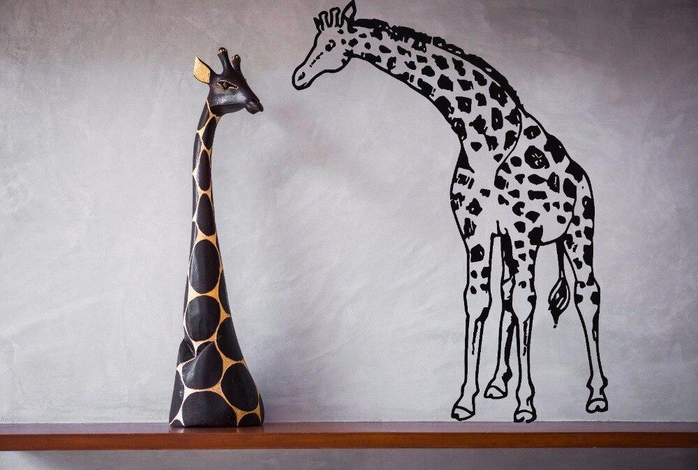 ₩Jirafa pared del vinilo animales selva safari africano jirafa ...