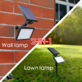 2-in-1 outdoor lighting solar wall lamp LED lawn lamp 2200Mah 48 LED 300lm 3 modes super bright yard lamp Garden light