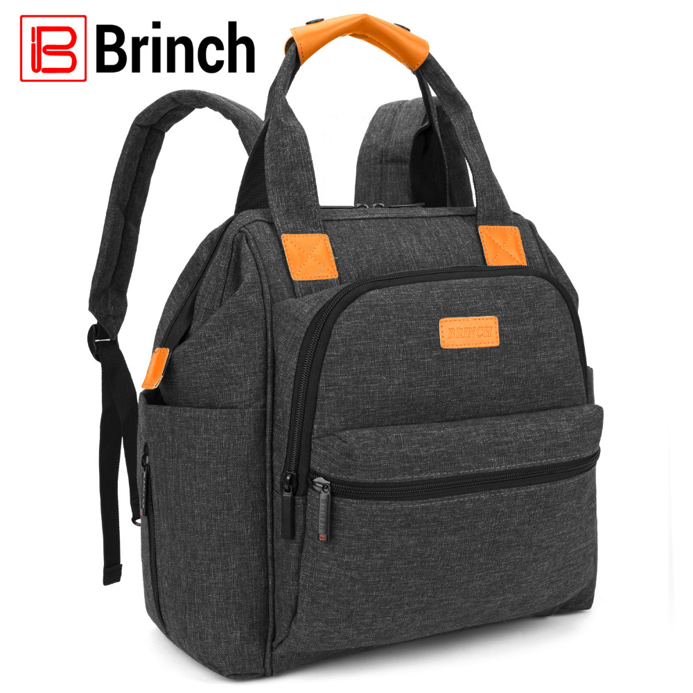 BRINCH Multifunctional Diaper Bag Backpack Lightweight Mummy Travel Backpack Large Capacity Stroller Bag Nursing Bag For Baby