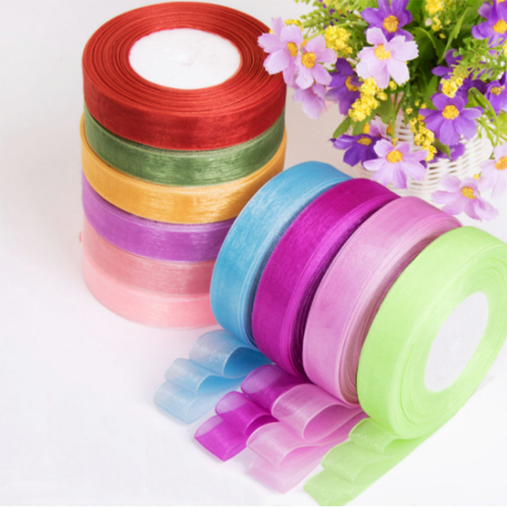 New 25 Yards 6mm-50mm Glitter Ribbons Bling For Bows Crafts Wedding  Decorated
