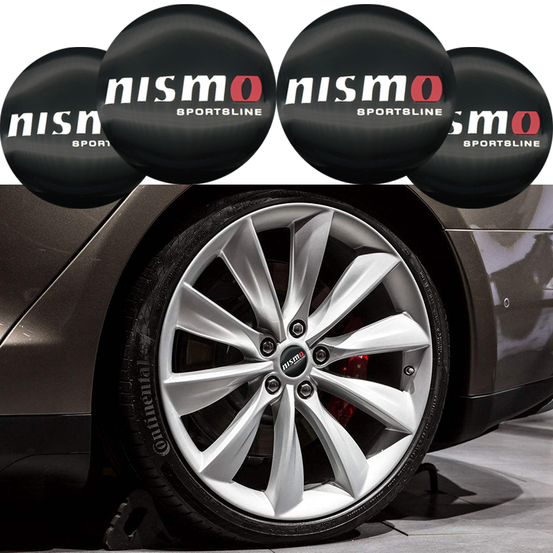 4PCS Car Aluminium NISMO Wheel Hub Center Caps Emblem Styling Wheel Sticker For Nissan Tiida Teana Skyline Juke X-trail Almera nikko машина nissan skyline gtr r34 street warriors 1 10 901584 в перми