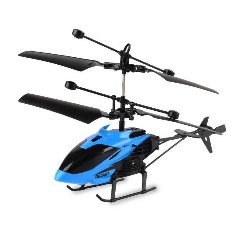 Modo sin Cabeza Altitud Hold Azul Juguete Voladora con 2 bater/ías RC Helicopteros Teledirigidos con Luces LED Brillantes Regalos para ni/ños 360/° Flip Mini Drone para Principiante y ni/ños