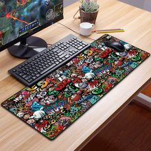 Extra Large Gaming Mouse Pad Gamer Old World Map Computer Mousepad Anti-slip Natural Rubber Gaming Mouse Mat xl xxl 900x400mm(China)