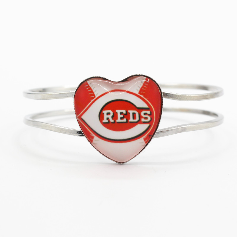 baseball sports team Cincinnati Reds floating charms 6pcs/lot fashion alloy bracelet for man woman bracelets jewelry