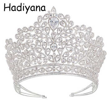Hadiyana Luxury Princess Jewelry Tiaras and Crowns Headband New Love Bridal Big Wedding Hair Accessories Crown For Women HG6010 - DISCOUNT ITEM  40 OFF Jewelry & Accessories