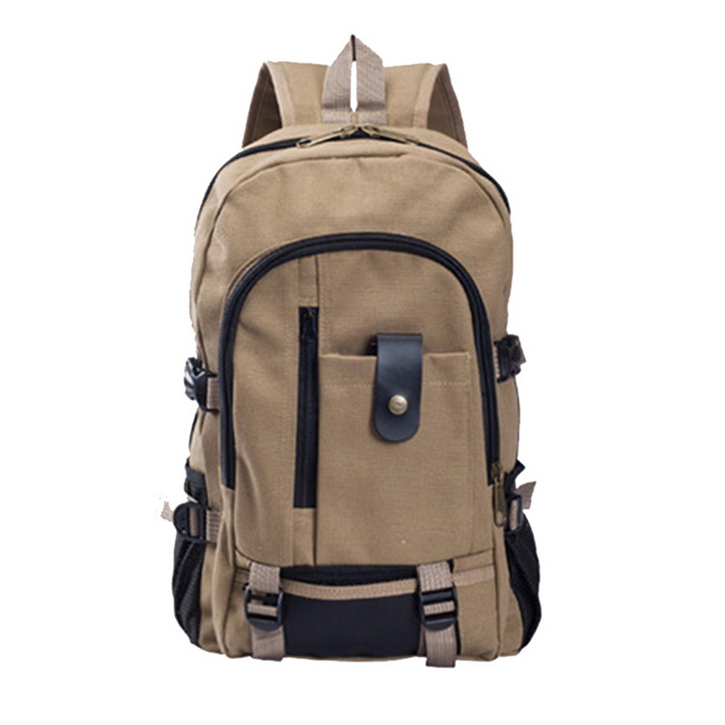 WENYUJH Men's Canvas Backpack Large-capacity Schoolbag Explosion Bags Leisure Contracted Travel  Backpack Teenagers School Bags