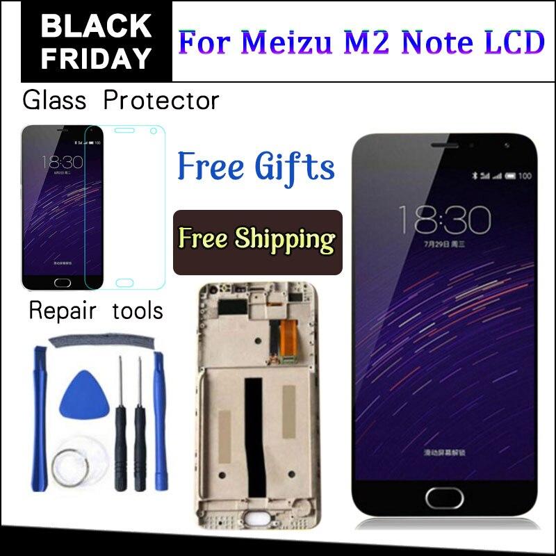 AICSRAD LCD Display + Digitizer Touch screen Für Meizu M571 M2 Hinweis Handy 5,5 zoll Meilan Note2 Mit Rahmen