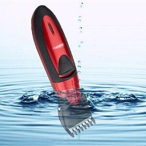 Image 2 - جديد قابل للغسل مقص الشعر الكهربائية قابلة للشحن الحلاقة للرجال الطفل HC001 اللاسلكي أداة تهذيب اللحية ماكينة حلاقة قص الشعر 220 فولت