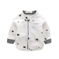 Children S Pure Cotton Shirts The Spring And Autumn Period And The Boys Printed Shirts Round