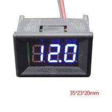 DC 4.50V-30.0V Digital Panel Voltage Meter Digital Voltmeter Two Wires 0.36 inch LED Display Blue Voltage Detector Monitor