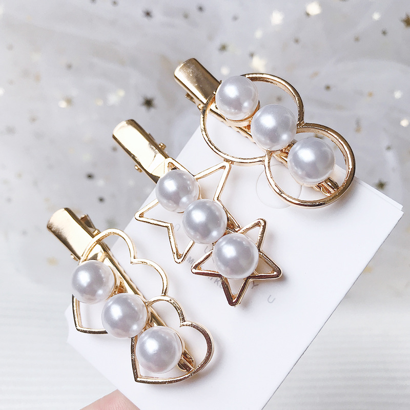 Hair Accessories Vintage Pearls Heart Hair Clips For Women Lady Elegant Hairpins For Girls Geometric Alloy Barrettes Headband in Women 39 s Hair Accessories from Apparel Accessories