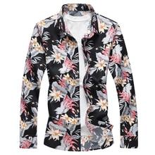 2018 spring good quality plus size 7XL shirt top silk men long sleeve mens designer dress shirts