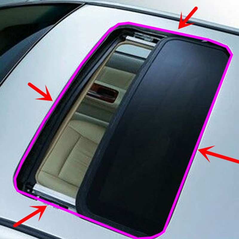 3M Car Window Sealant Rubber Sunroof Triangular Window Sealed Strips Seal Trim For Audi BMW Mercedes-Benz Cadillac