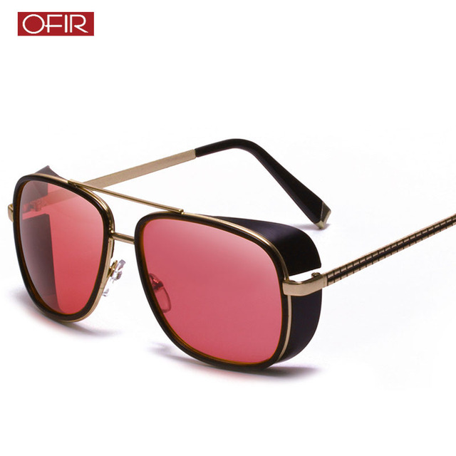 b7d39639d3b Male Steampunk Sunglasses Tony Stark Iron Man Matsuda Sunglasses Retro  Vintage Eyewear Steampunk Sun Glasses UV400