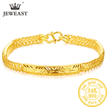 YLJC 24K Pure Gold Bracelet Real 999 Solid Gold Bangle Upscale Beautiful Romantic Trendy Classic Jewelry Hot Sell New 2020