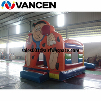 Customized logo 4*5m inflatable kid jumping house colorful character style bouncer castle factory price inflatable air castle