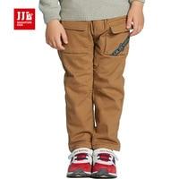 Thicken Boys Ruffle Pants Warm Lining Kdis Cargo Pants Full Length Kids Clothing Toddler Boys Pants