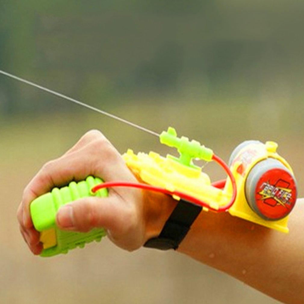 ABS 4 Meters Range Wrist Water Gun Beach Toy Water Gun Toy Backpack Outdoor Swimming Pool Sprinkling Water Kids Baby Shooter Toy